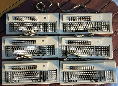 Lot Of 6 Vintage IBM Model M 122 Key 1987 1988 Mechanical Keyboard 240° Tested • 289.43£