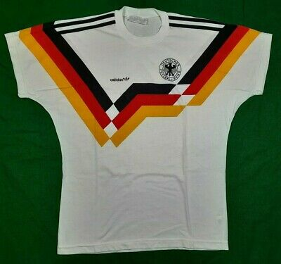 West Germany 1988 National Football Tee Shirt Made By Adidas Size M MEL • 79.99£