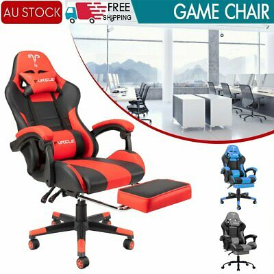 AU152.83 • Buy Gaming Chair Computer Executive Office Racer Recliner Seat Racing W/Footrest