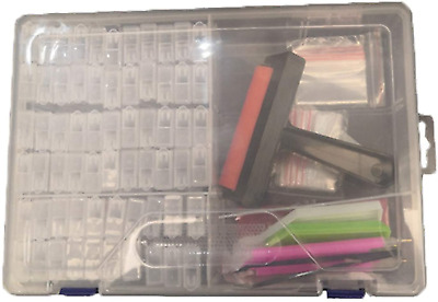 104 Pieces 5D Diamond Painting Tools Kit For Adults And Kids, DIY Art Craft Box • 27.83£