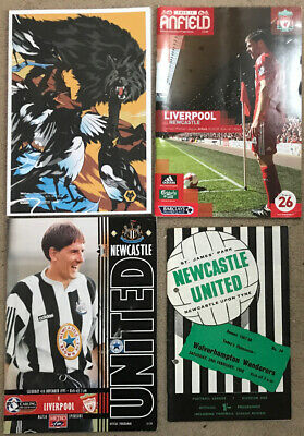 4 Newcastle United Programmes H/A Liverpool, Wolves • 0.99£