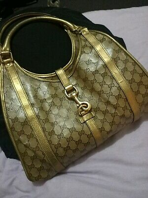 AU350 • Buy GUCCI Beige/Gold GG Crystal Jackie O Shoulder Bag