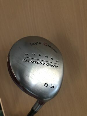 Taylormade Driver Burner Supersteel 9.5 Bubble Shaft R80 • 0.01£