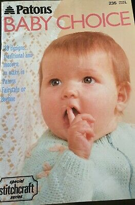 Patons Baby Choice Knitting + Crochet Book 23 Designs X Con 235 • 2.50£