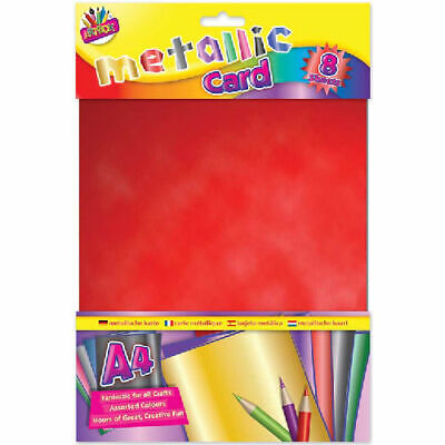 £2.39 • Buy Metallic Boards - Card 8 Sheets High Quality Arts Crafts Shiny A4  Colours