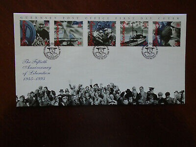 Guernsey First Day Cover 1995 Liberation Anniversary • 0.25£