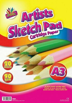 £4.19 • Buy A3 20 Sheets Sketch Pad - Drawing Arts Crafts Kids Children Adults School Colour