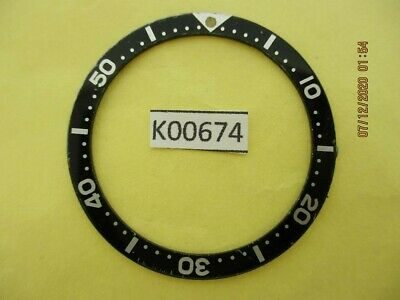 $ CDN9.37 • Buy Used Vintage Seiko Bezel Insert For Skx007 6309 7040 7290 6306 Dive Watch K00674