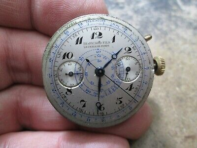 $ CDN74.51 • Buy Vintage SWISS Chronograph NONRunning 2 Register Watch MOVEMENT ONLY