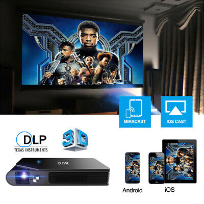 AU449.99 • Buy 3600lm WiFi Pico DLP Projector 3D Movie Wireless Mirror Screen For IPad HDMI USB