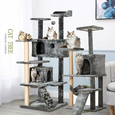Large Cat Tree Tower Kitten Scratching Post Furniture Climbing Activity Center • 17.75£
