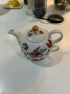 The National Trust Teapot And Tea Cup Set - 9306 Red Floral And Bird Design • 2.28£
