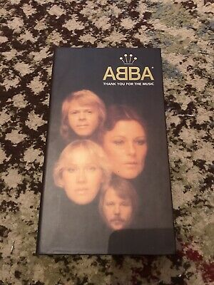 ABBA THANK YOU FOR THE MUSIC 4 Cd Box Set Complete With Booklet 1994 Lovely Set • 19.99£