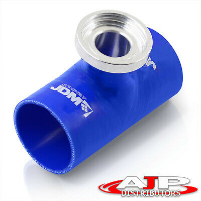 $19.99 • Buy Ssqv Sqv Silicone JDM Turbo Bov Blow Off Valve 2.5  Adapter Coupler Flange Blue