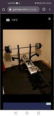 £300 • Buy York Bench And Weights + Dip And Pull Up Station