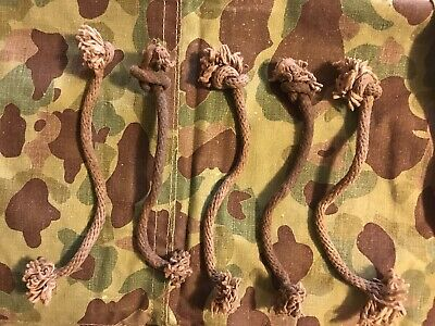 $17.50 • Buy WW2 USMC Camo Shelter Half FOOT ROPES (Complete Set Of 5) 1943 ORIGINALS!