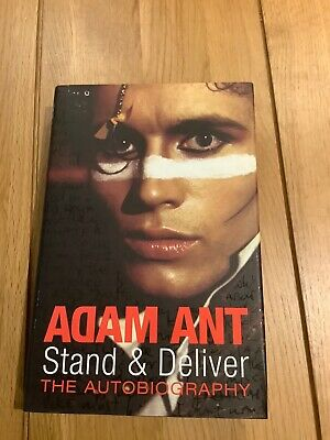 Adam Ant Hand SIGNED Hardback Book - Stand & Deliver Autobiography - Pop • 24.99£