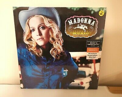 Madonna Music LP Limited Edition Blue Vinyl Sainsbury's Brand New Sealed • 18£