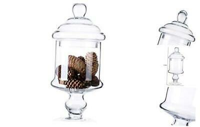 Apothecary Glass Candy Jar With Lids, Candy Buffet Display S H:12  D:6  • 23.36£