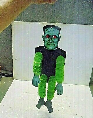 $ CDN31.78 • Buy Old Vintage Halloween Decoration Honeycomb Cardboard Die Cut Out Frankenstein