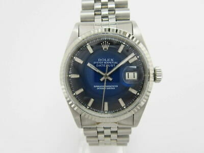 $ CDN7573.61 • Buy ROLEX Datejust 1601 Automatic White Gold Bezel Blue Gradient Dial Stainless