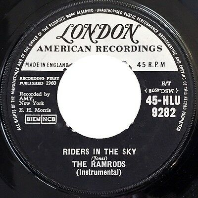The Ramrods ‎– Riders In The Sky 7  Vinyl (Stock Photo)  • 2.99£