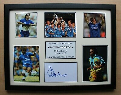 Gianfranco Zola Signed Chelsea Multi Picture Career Display (20465) • 40£