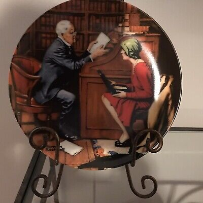 $ CDN15 • Buy Edwin M Knowles China Co Norman Rockwell Collector Plate  The Professor