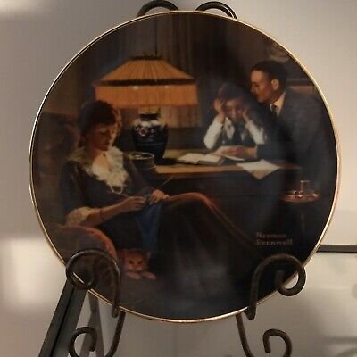$ CDN15 • Buy Edwin M Knowles China Co Norman Rockwell Collector Plate  Fathers Help