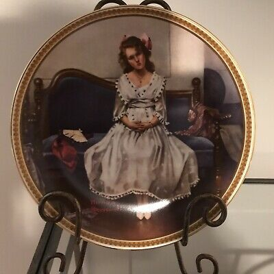 $ CDN15 • Buy Edwin M Knowles China Co Norman Rockwell Collector Plate  Waiting At The Dance
