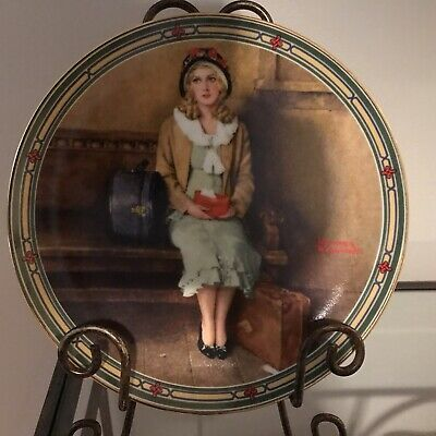 $ CDN15 • Buy Edwin M Knowles China Co Norman Rockwell Collector Plate  A Young Girls Dream