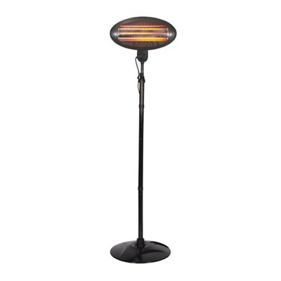 Perel PHS2000 Patio Heater Electric 2000W Free Standing Outdoor Garden • 47.98£