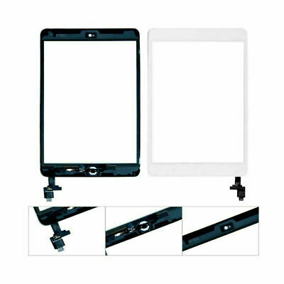 Screen Touch Glass Digitizer Replacement IC Home Button White For IPad Mini 1 2 • 9.85£
