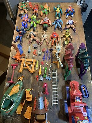 $132.50 • Buy Vintage Mattel He Man Masters Of The Universe Figures And Vehicles Lot