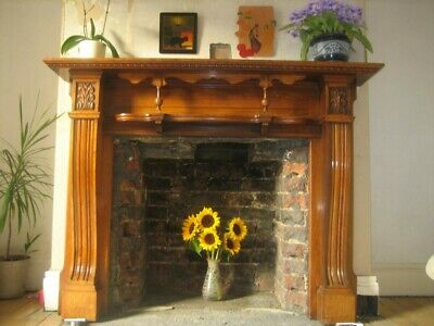 Large Handsome Late Victorian/Edwardian Style Fire Surround Mantlepiece Mantle • 500£