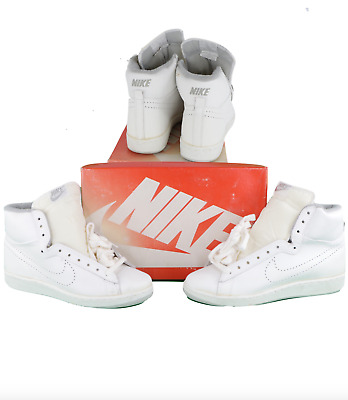 AU928.86 • Buy NOS Vtg 80s Nike 1985 Racquette S High Perforated Leather High Top Shoes Mens 10