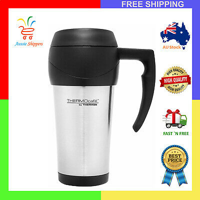 AU14.99 • Buy THERMOS THERMOCAFE 450ml TRAVEL MUG Insulated Cup Coffee Tea Stainless Steel