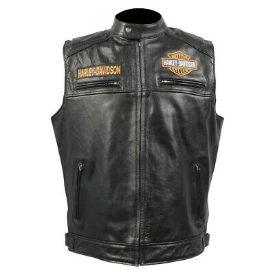 $ CDN180.71 • Buy  Mens Real Leather Jacket Harley-Davidson Motorcycle Design With Embroidery
