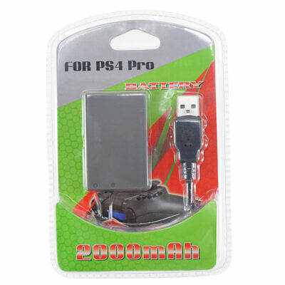 AU13.81 • Buy RECHARGEABLE BATTERY FOR PS4 PRO CONTROLLER CUH-ZCT2 HIGH CAPACITY 2000mAh CABLE