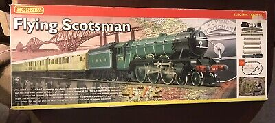 Hornby 00 Gauge Flying Scotsman Electric Train Set R1039 Great Condition • 53£