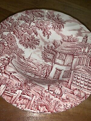 £75 • Buy A Set Of 6 Red The Hunter By Myott 1982 Plates ~21cm