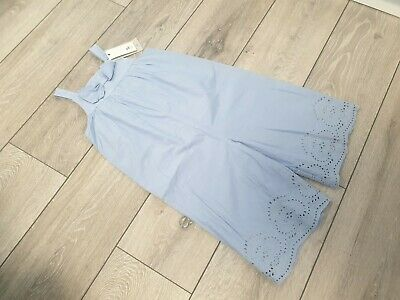 Girls 3 4 Years Summer Playsuit Jumpsuit Dungaree Lined Tu Bow • 8£