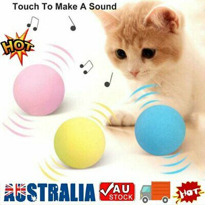 AU8.65 • Buy Interactive Cat Toys Smart Touch Sound Ball Pet Training Simulation Squeaker OD