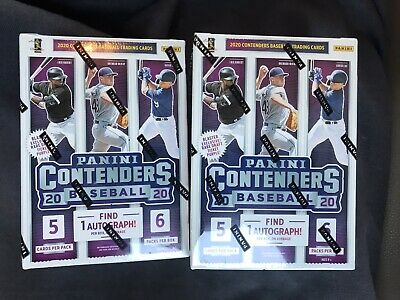 $ CDN53.37 • Buy 🚨(2)-2020 Contenders Baseball Blasters! 1 AUTO PER BOX! 🚨  Lot Of (2)- IN HAND