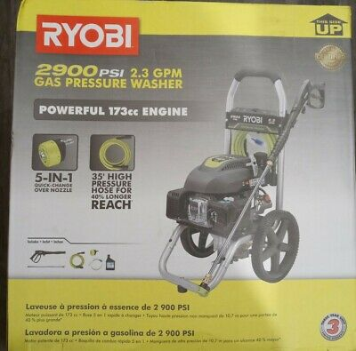 Ryobi Pressure Washer 2900 PSI 2 3 GPM Compact Outdoor Power Equipment Cleaning. • 182.39£