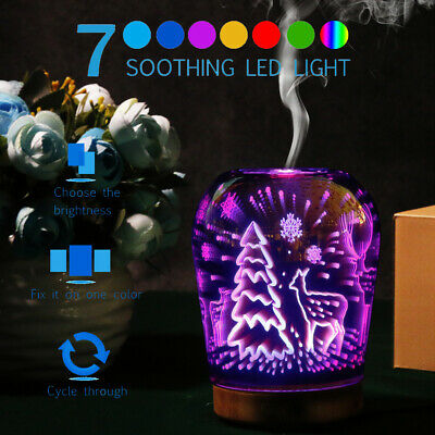 AU25.83 • Buy  7 Colors Aroma Aromatherapy Diffuser LED Oil Ultrasonic Air Humidifier Purifier