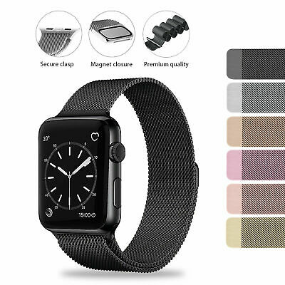 AU10.50 • Buy 38/40/42/44mm For Apple Watch Strap Series 1/2/3/4/5 Magnetic Milanese Loop Band