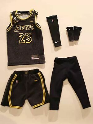 $39.99 • Buy  1/6 Lebron James Lakers Black Mamba Jersey 23 Los Angeles NBA Fit Enterbay