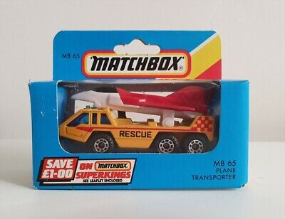 Matchbox Superfast MB65 – Plane Transporter With Aircraft - Unopened Box - 1986 • 19.99£
