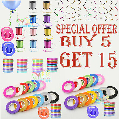 $4.22 • Buy 5mm Curling Ribbon 2+ Different Colour For Balloon/Craft/Gift Wrap/Art🎈🎀